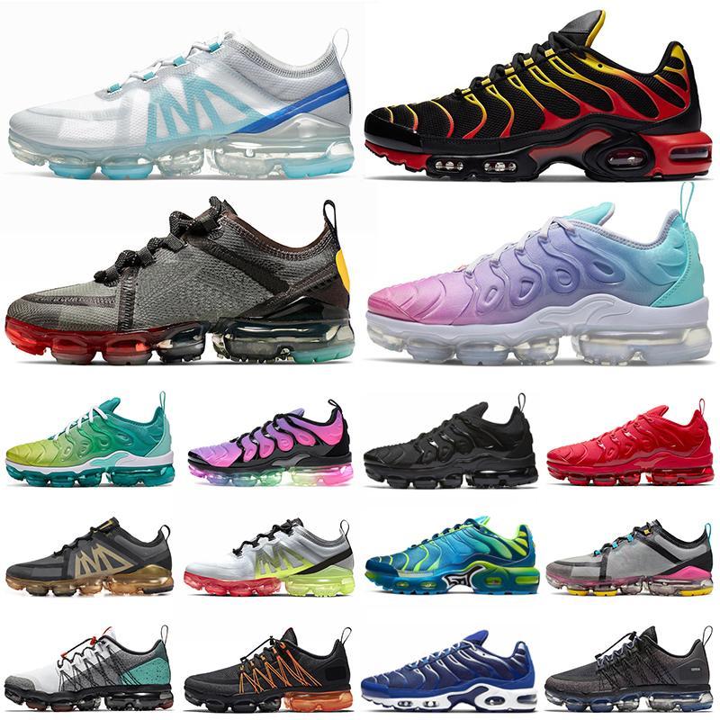 air vapormax air max airmax tn plus vapors tns 2019 Run Utility koşu ayakkabıları Üçlü Siyah Beyaz Gerçek Ol erkek bayan açık spor ayakkabı eğitmenler