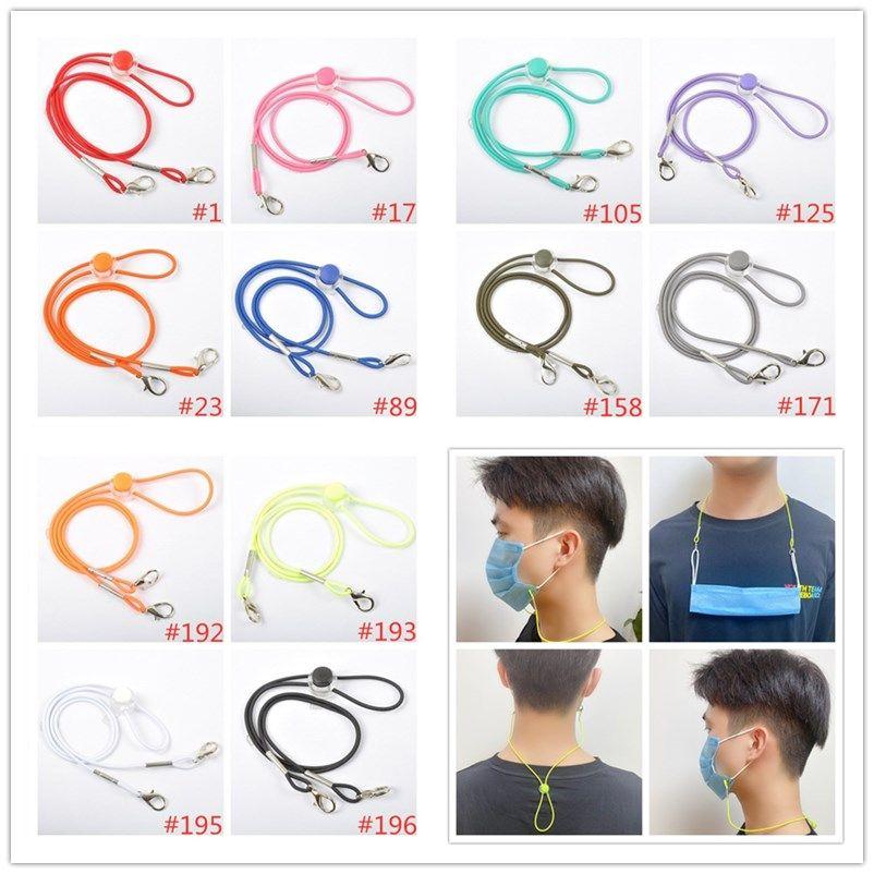 12 Colors Anti-loss Mask Rope Extension Reusable Face Mask Holder Glassses Masks Lanyard Hang On Neck String Masks Rope HHF1567