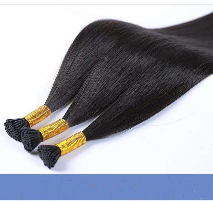 Livraison gratuite en gros bâton de cheveux humains européens et de vrais cheveux américains vraie dame poignée d'extension de cheveux peuvent être teints et repassés