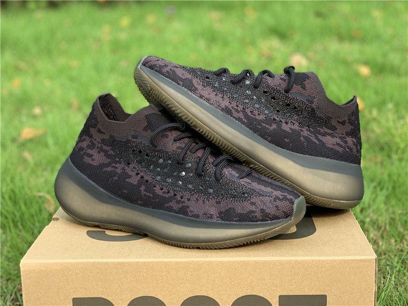 2020 Nouveau Authentique 380 Onyx Noir 3M Reflective Hommes Femmes Chaussures de course Kanye West Sport Chaussures de sport avec la boîte originale