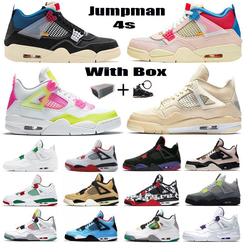 Nouvelle Voile 4 Union Femmes Mens Basketball Chaussures 4S Jumpan Sneakers Taille 13 Noir Cat 2020 Goyava LCE Bred IV Cactus Jack entraîneurs