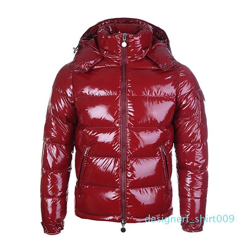 designer francês vermelho para baixo casaco de inverno jaqueta para homens com casaco quente grossa para homens curto penas de ganso para homens high-end d09