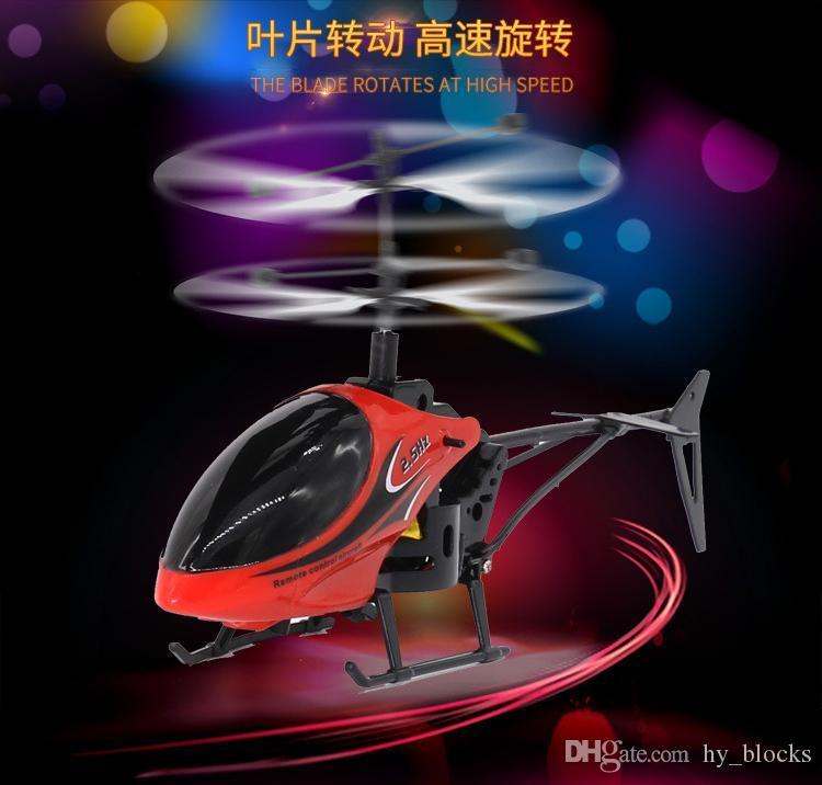 Mini RC Drone Helikopter Infraed İndüksiyon 2 Kanal Elektronik Komik Süspansiyon Uzaktan Kontrol Uçağı Quadcopter Drone Çocuk Boy Oyuncak