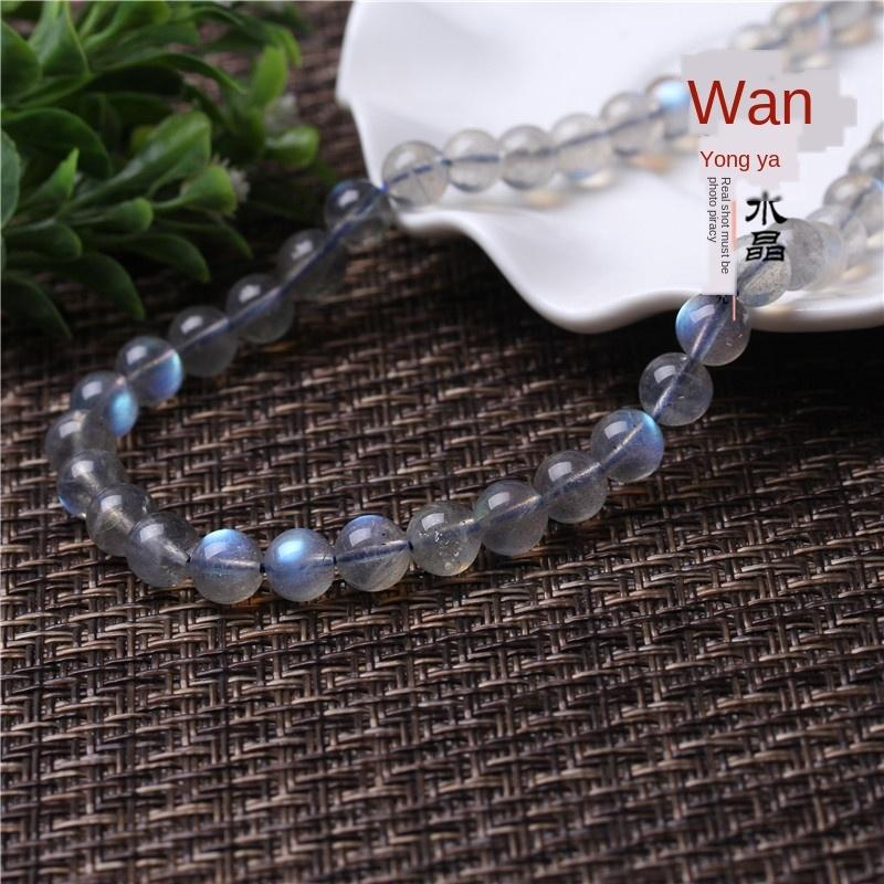 z9BAL Natural 5A gray Diy Crystal Accessory Crystal moonlight Stone loose beads DIY jewelry beads accessories blue moonlight semi-finished p