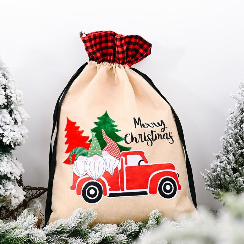 Sacs 2020 Gift Forest Forêt Storage Nouveau pour Sac avec Candy Cadeau Enfants Sacs Décoration Car Man Noël Noël SMGWG