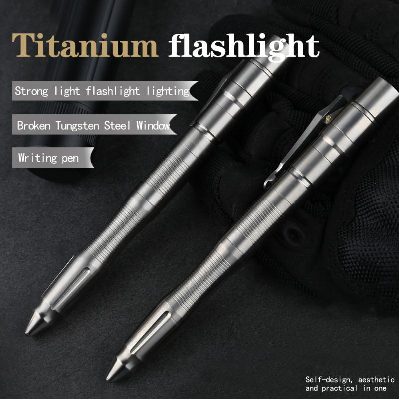 Tactical pen outdoor emergency titanium alloy high hardness broken window tool pen
