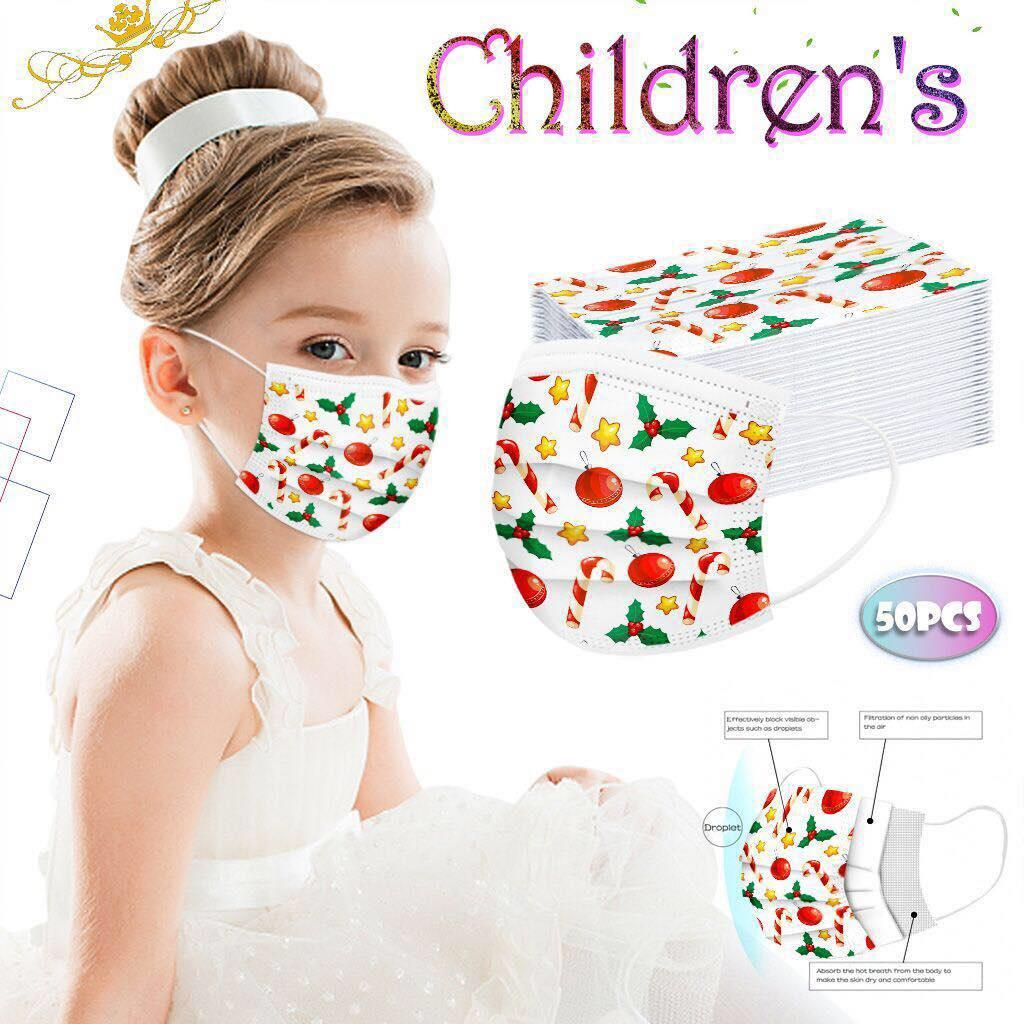 New Halloween Christmas kids Disposable Masks Three-layer fashion dust-proof designer Protective kids face masks 11 patterns China wholesale