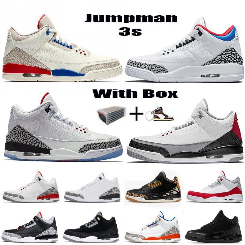 Nouveau de Jumpman Chaussures de basket-Rouge Noir Ciment Tinker 3 UNC Katrina Knicks Rivals 3M Designer réfléchissants Formateurs Chaussures de sport