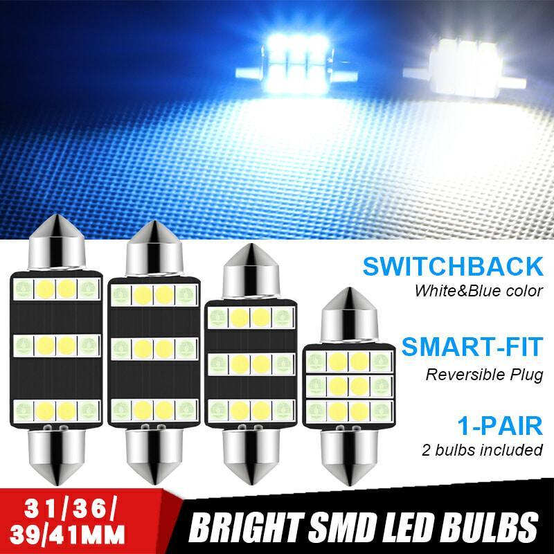 4pcs C5W C10W Festone 31 millimetri 36 millimetri 39 millimetri 41 millimetri di lettura della luce di cupola luci blu bianco delle targhe auto lampadina 12V LED interni