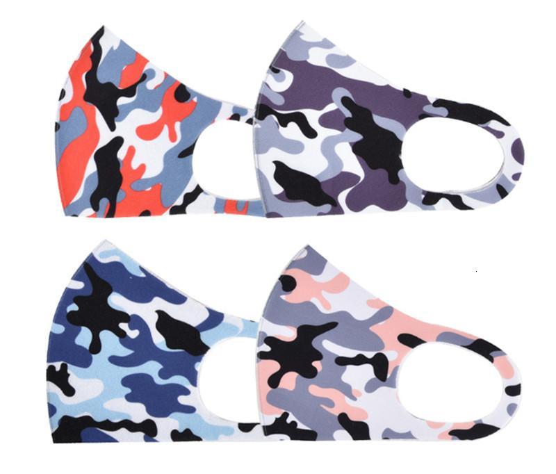 La limpieza del polvo del viento camuflaje para hombres y mujeres reutilizable lavable 8 estilo Máscara Diseñador Ahf43