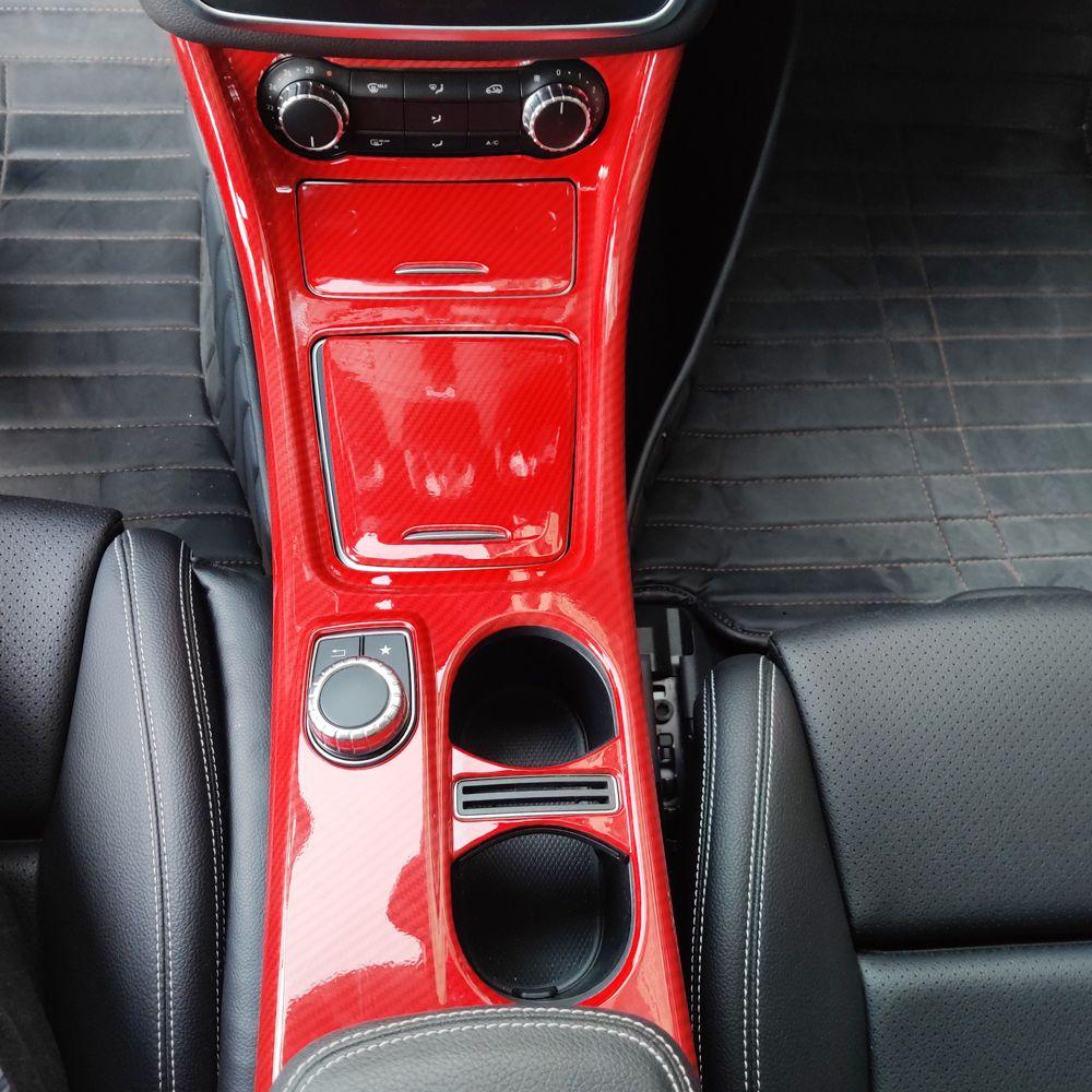 Mercedes-Benz GLA-Class X156 CLA C117 Araç Aksesuarları Merkezi Konsol Paneli Kapak Trim Çerçeve Sticker Dekorasyon için