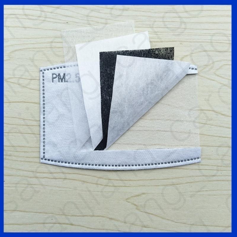 Enfants et adultes PM2,5 Activé Masque Filtres 5 couches de carbone Filtre à air Insérer Replaceable