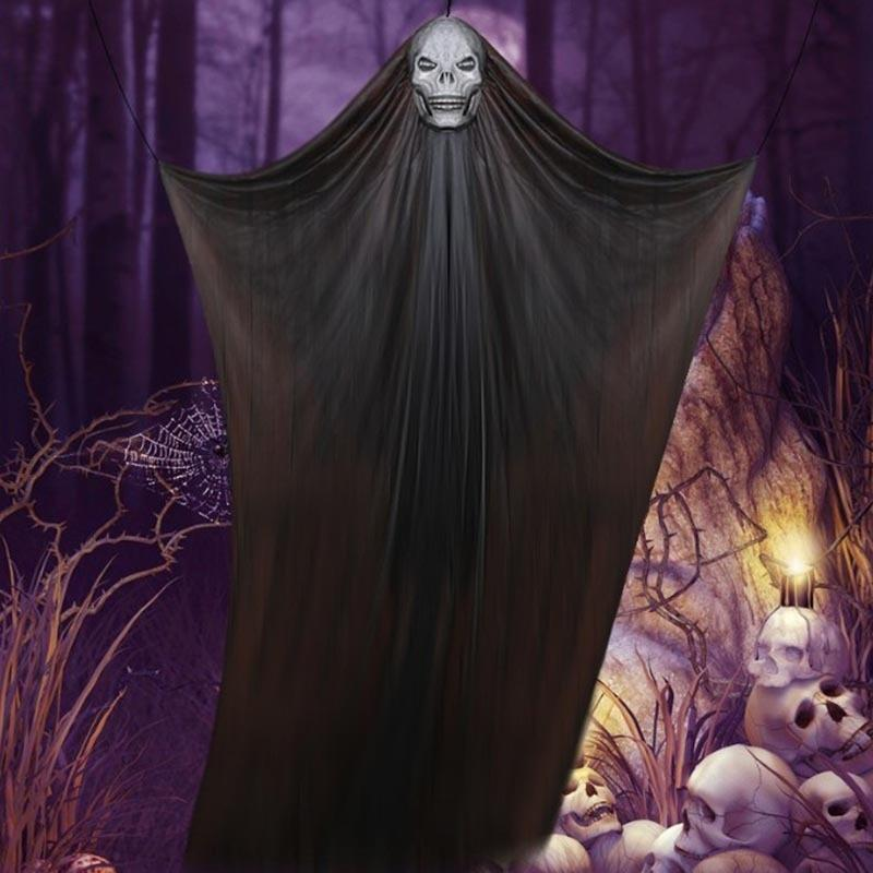 09h8d Pendant hanging skull Halloween horror pendantprop pendant Ghost gauze big hanging ghost festival decoration props 3 m 5BKrK