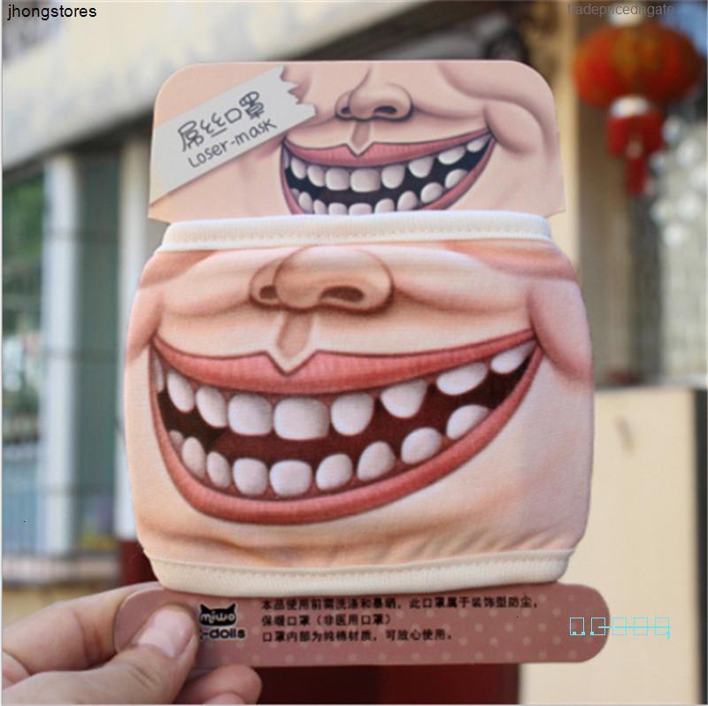 Máscara facial de verano Nueva Impresión Creativa Unisex Algodón divertido de Sunproof a prueba de polvo Ciclismo Gran Ir58