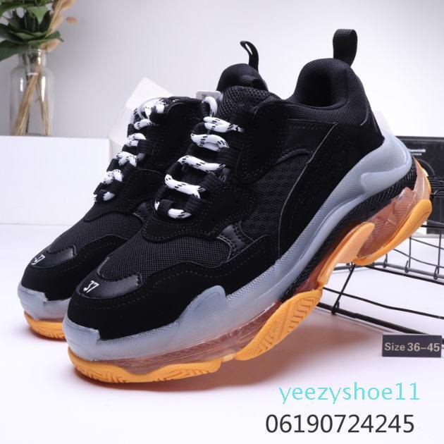 Crystal Fashion inferior Paris 17FW Triple S Mens Designer Sneakers Plataforma Mulheres Dad Vintage Luxo calçados casuais Esportes Formadores Botas y11