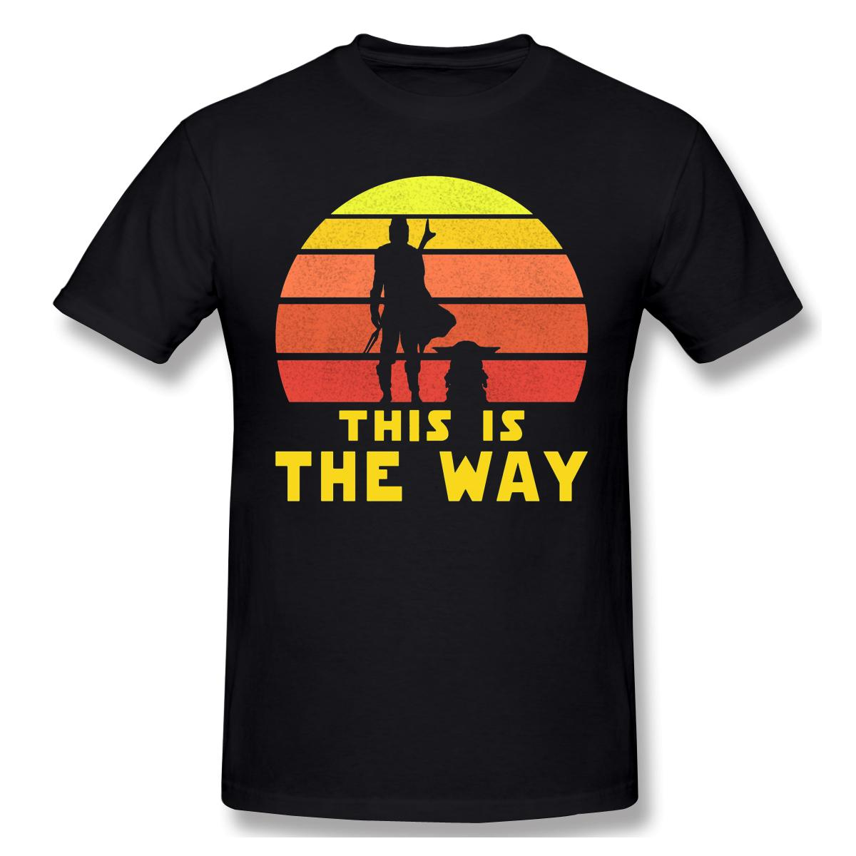2020 Yeni Geliş Mando Retro Vol.1 Slim Fit Büyük satışı Tshirt% 100 Pamuk Jedi Fett Yetişkin Crewneck Tshirt Yuvarlak Yaka ofertas