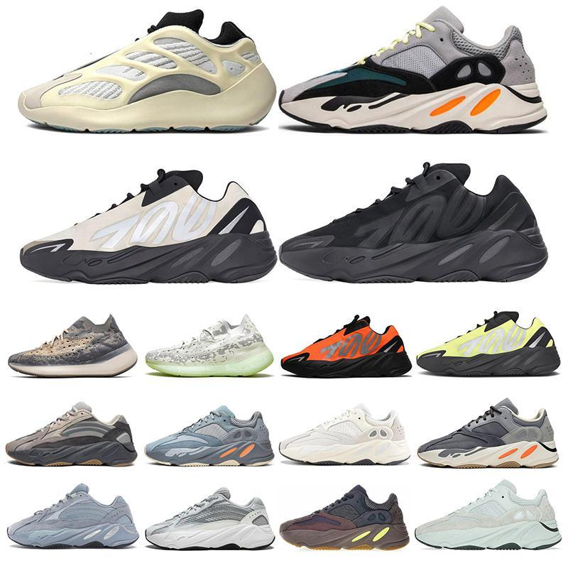 New 700 Running Shoes For Mens Women 700 V3 Wave Runner Mauve Alvah Azael Triple Black 380 Sports Sneakers Size 36 -45