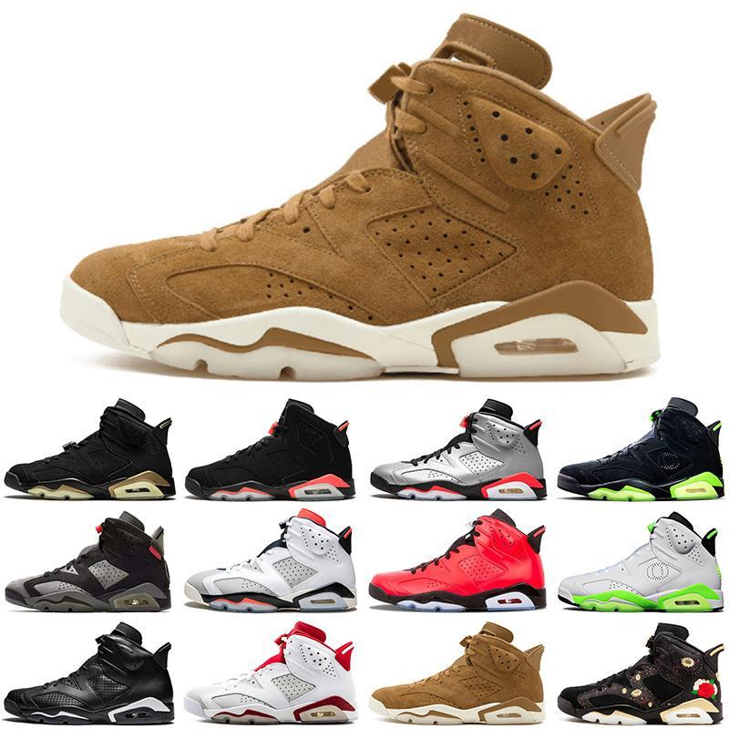 6 6s erkekler basketbol ayakkabıları tavşan Toptan DMP Scott Kızılötesi Oreo atletik açık erkek eğitmenler spor ayakkabı boyutu 7-13 Travis