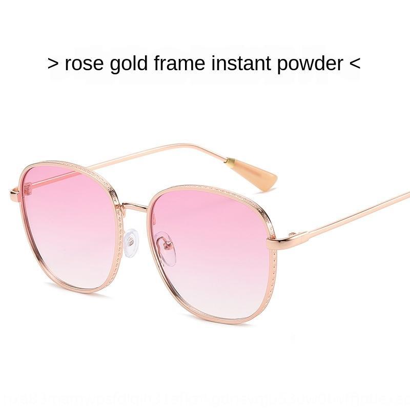 IWpnP 2020 нового солнца женщин персонализированные моды металлические очки толстые боковые вырезаны очки 0005