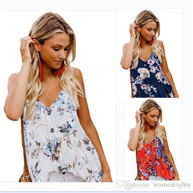 티셔츠는 민소매 V 넥 디자이너 섹시 패션 여성 의류 조끼 여성 여름 외부 여성 착용 탑 쿨
