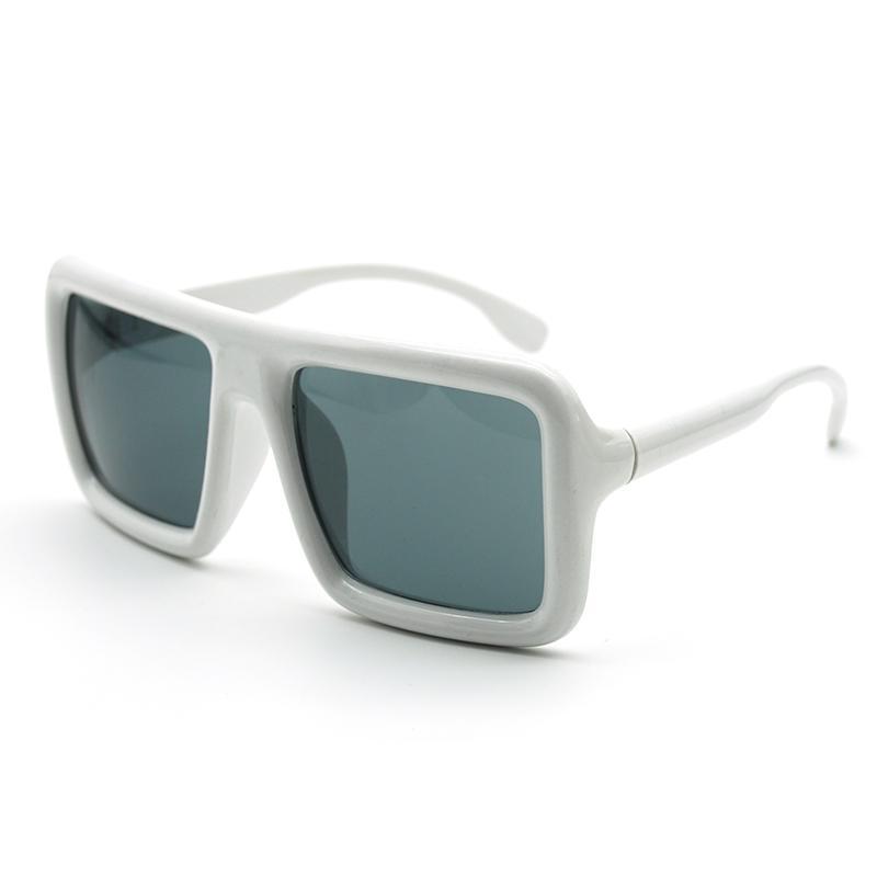 Adam Vintage Punk Retro Hip Hop Kalın Çerçeve Black Vazrobe Steampunk Güneş gözlüğü Erkekler Kadınlar Beyaz Güneş Gözlükleri