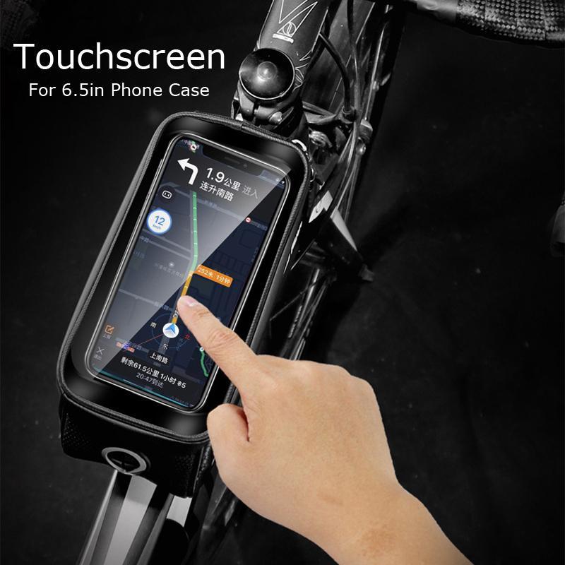 X-TIGER Regenschutz-Beutel-Fahrrad-Beutel-Feld-Front Top Schlauch MTB Wasserdicht Radfahren Tasche 3D Shell Reflective Telefon Touchscreen
