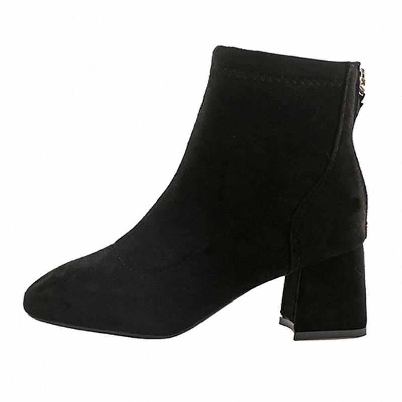 mulheres inverno botas de moda quente curto pelúcia de volta zíper dos saltos altos das mulheres botas de inverno zapatos de mujer venda sapata Bctj #