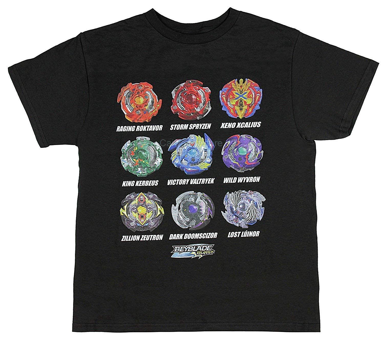 100% der Männer Baumwolle Kurzarm T-Shirt Beyblade Burst Jungen Spinner kidstopsfashion Sommer T-shirt Männer Mens
