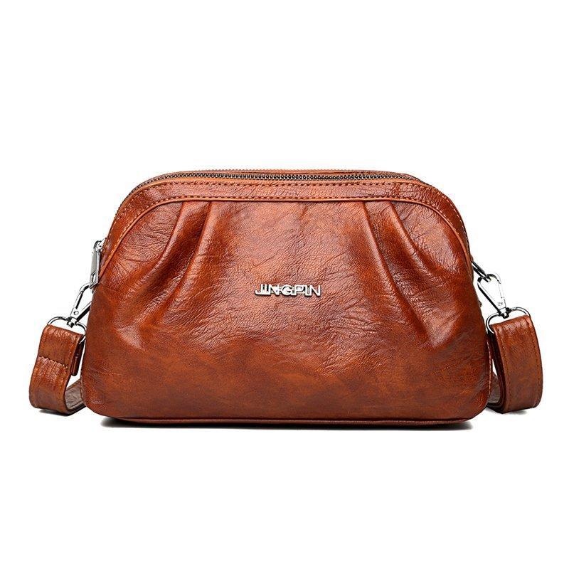 Un sac de sacs solides Sacs Sacs Sacs Vintage Kowsk Crossbody pour Messager en cuir Femme pour filles Hobos Sac Femme Sac En Cuir Main 2020 Sadl