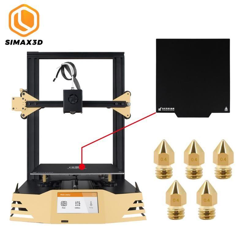 SIMAX3D Модернизированный 3D-принтер с 235x235mm Magnetic печати Кровать Tape плиты и пять 0.4mm Насадки сборки Объем для точности печати
