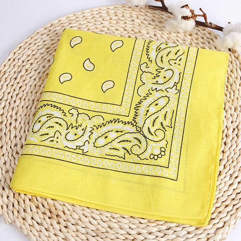 Cotton Hip Hop Style de Wristband écharpe cou Mouchoir d'impression multifonctions Tête carrée Wrap serviette équitation en extérieur