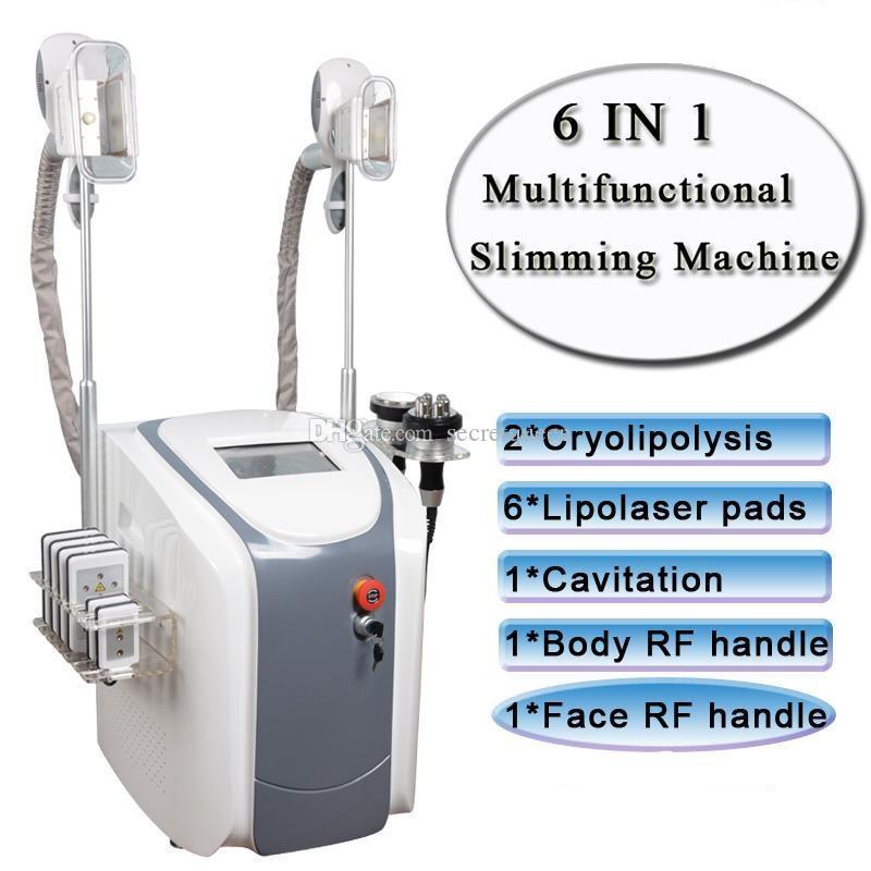한 Cryolipolysis 지방 휴대용 알아내는 슬리밍 기계 진공 지방 감소 냉동 요법 지방 냉동 기계 공동 현상 RF 냉동