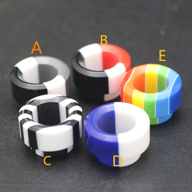 Colorful Rainbow Resin 810 Thread Resin Drip Tip Wide Bore Mouthpiece For TFV8 Big Baby GOON 528 RDA TFV12 Princ