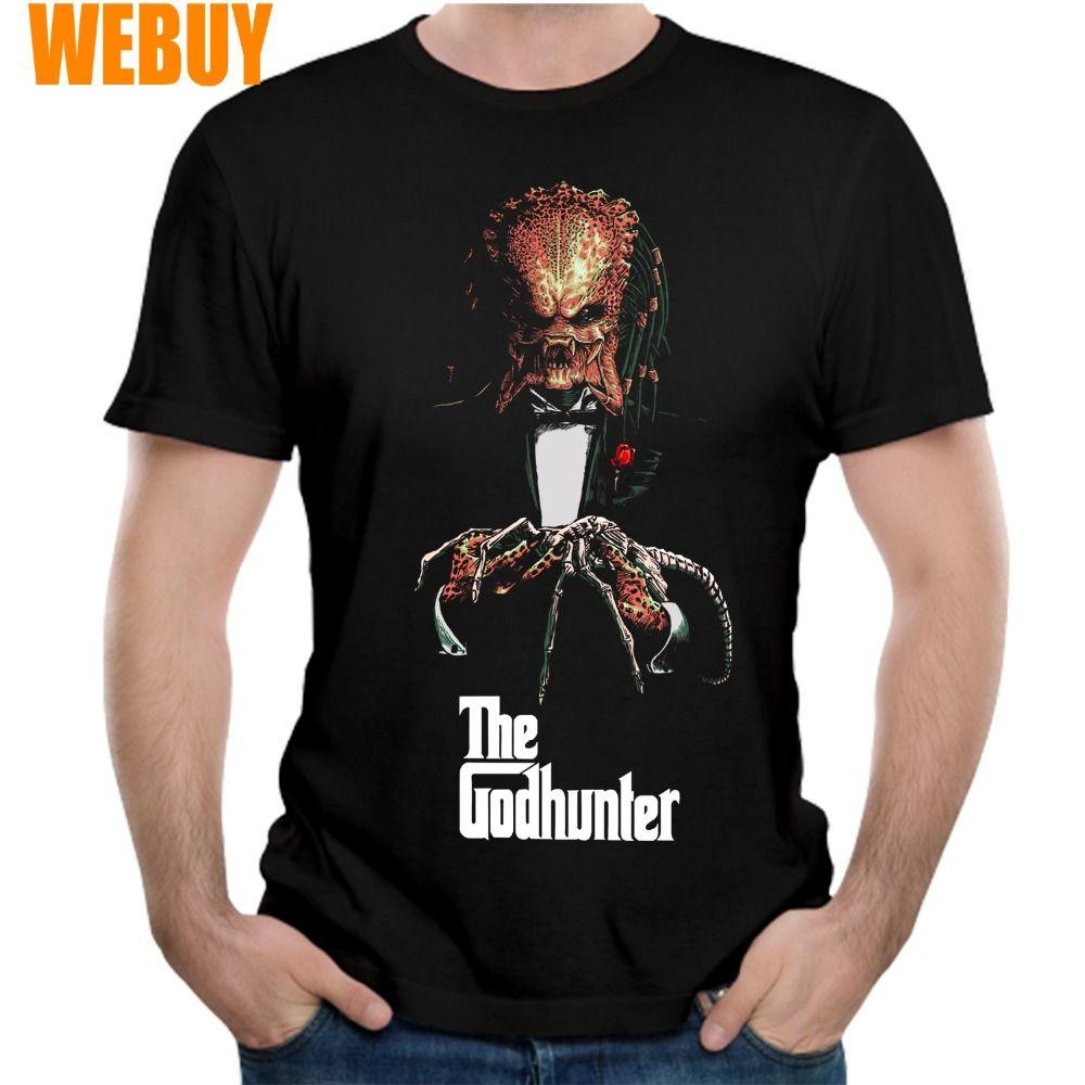 Adam Karikatür T tişört için Man Yeni Tişört S-6XL Artı boyutu Predator Alien Hunter Tişörtlü Godhunter Moda Homme Tee Gömlek için