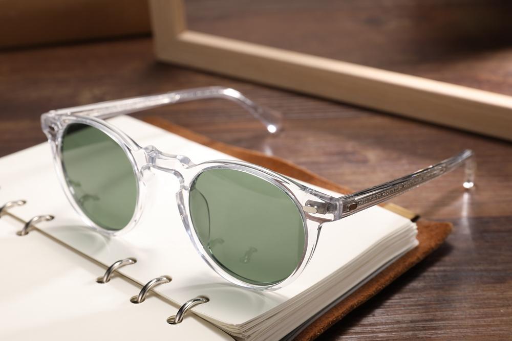 2020 Nouvelle marque Fashion Gregory Vintage Créateur polarisé Oliver Femmes Peck Sunglasses Brand Hommes Lunettes de soleil Gratuites Lunettes Rétro Deli WPJP