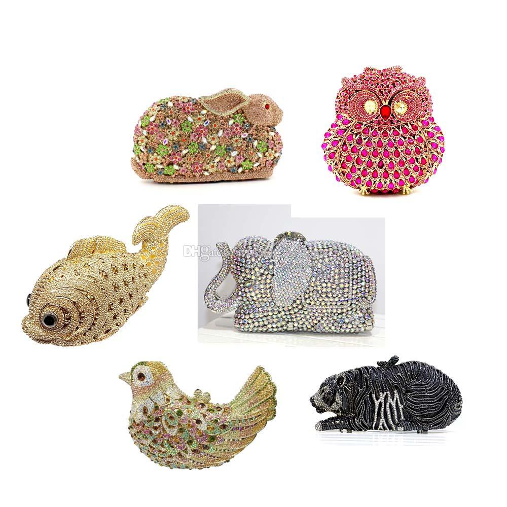 Сумки формируют вечернее сумку клатчи вечерняя вечеринка клатча сумка хрустальные сумки хрустальные кладки на продажу разные формы животных полые ивеющие