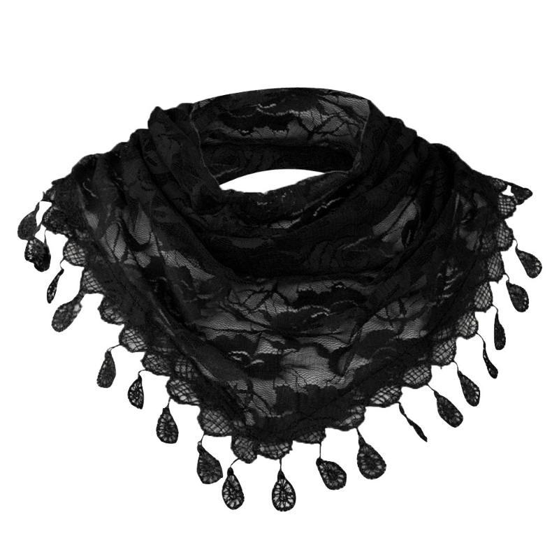 Scarves Sagace Scarfs For Ladies Lace Tassel Rose Floral Hollow Scarf Pretty Elegant Shawl Lady Wraps Neckerchief Tippet