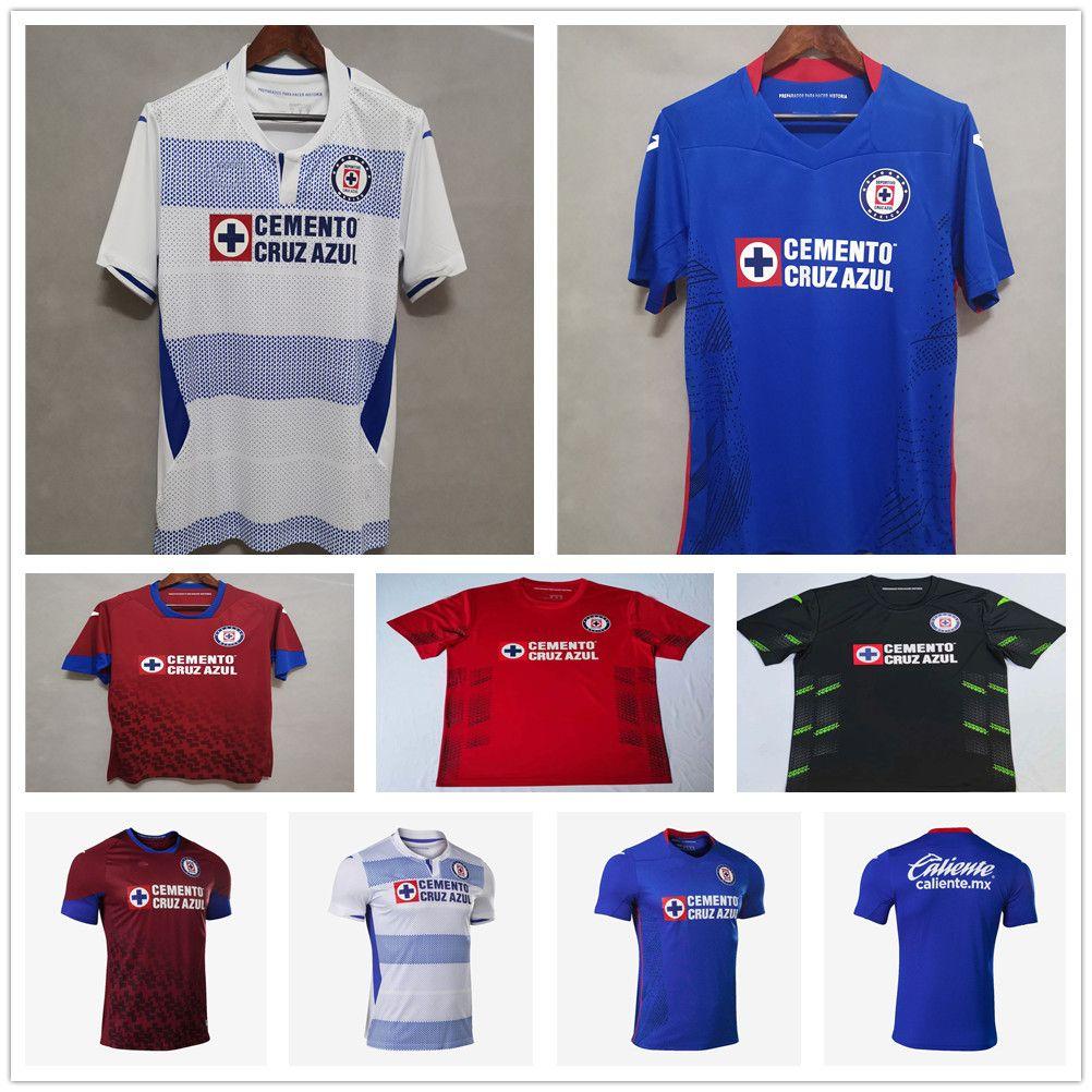 20 21 MX Liga Cruz Azul Futbol Forması Alvarado Rodriguez Pineda Escobar Özel 2020 2021 Ev Uzakta Üçüncü Adam Kadın Futbol Gömlek Üniforma