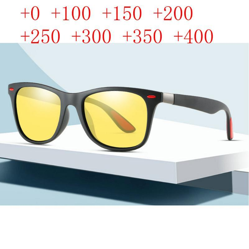E quadrato diottero Multifocal Reading Vision per uomo Uomo Occhiali da vista Vicino Night Sunglasses Women Women Bifocal Glasses Retro NX RHHJP