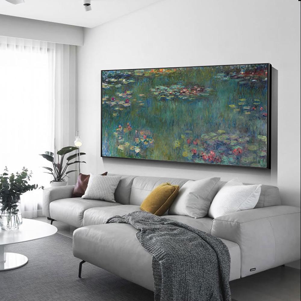 Monet Water Lilies Stampe su tela impressionista riproduzioni delle pitture murali Fiore Poster e stampe Picture For Living Room Decor