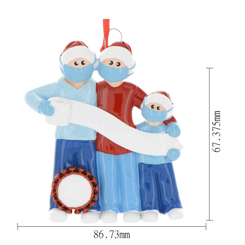 DIY زخرفة عيد الميلاد زينة عيد الميلاد 2020 الحجر شخصية نجا عائلة من 5 حلية مع أقنعة الوجه الشحن المجاني