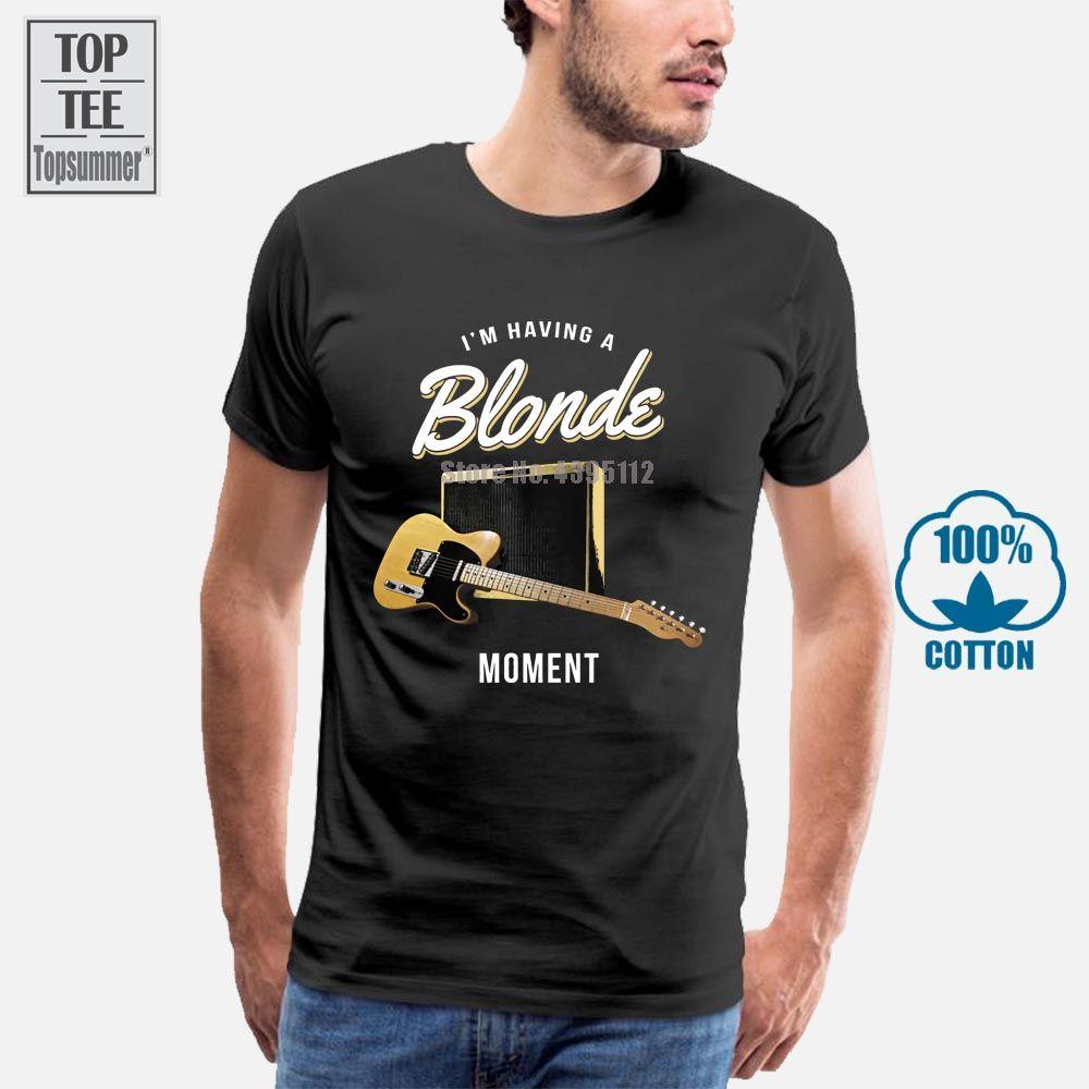 Белый Момент Теле гитара I M, имеющий премиум Тройник футболку
