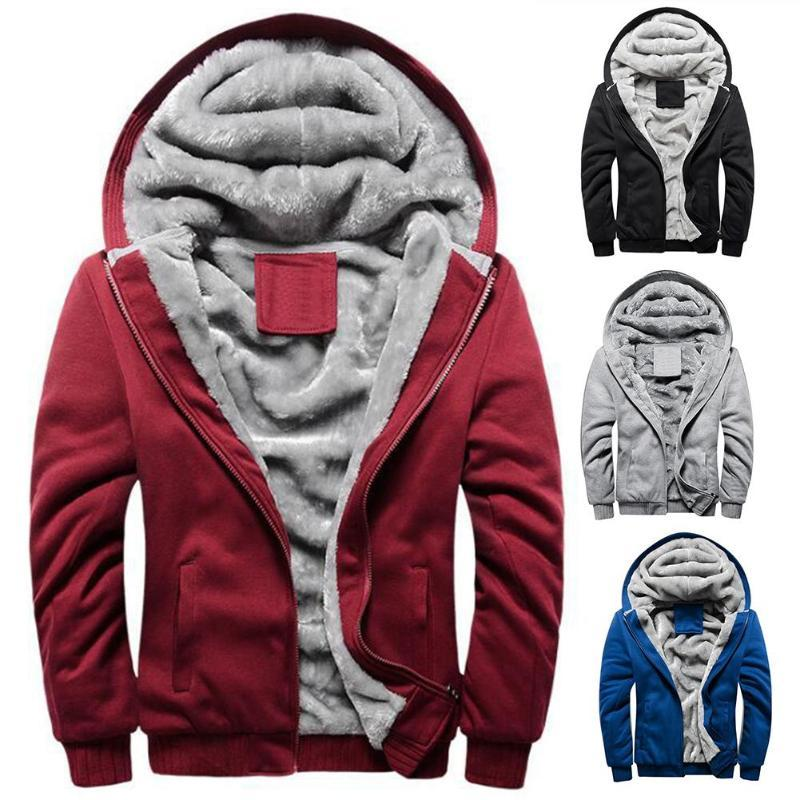 Winter Jacket Men's High-Quality Polyester + Spandex Coat Casual Slim Coat Men's Hooded Chic Men Warm Zip Up Outwear