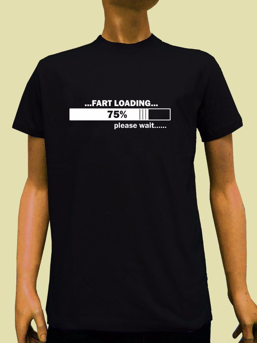 2019 Летняя мода Мужчины Printed T Рубашки Loading Мужчины Футболка Смешной Юмор Шутка Мужская рубашка Рождественский подарок дизайн Мужчины Tee Shirt