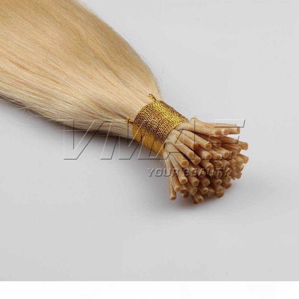 VMAE 러시아어 스트레이트 금발 # 613 1g 스트랜드 100g 각질 스틱 사전 보세 I 팁 처리되지 않은 버진 인간의 머리카락 확장