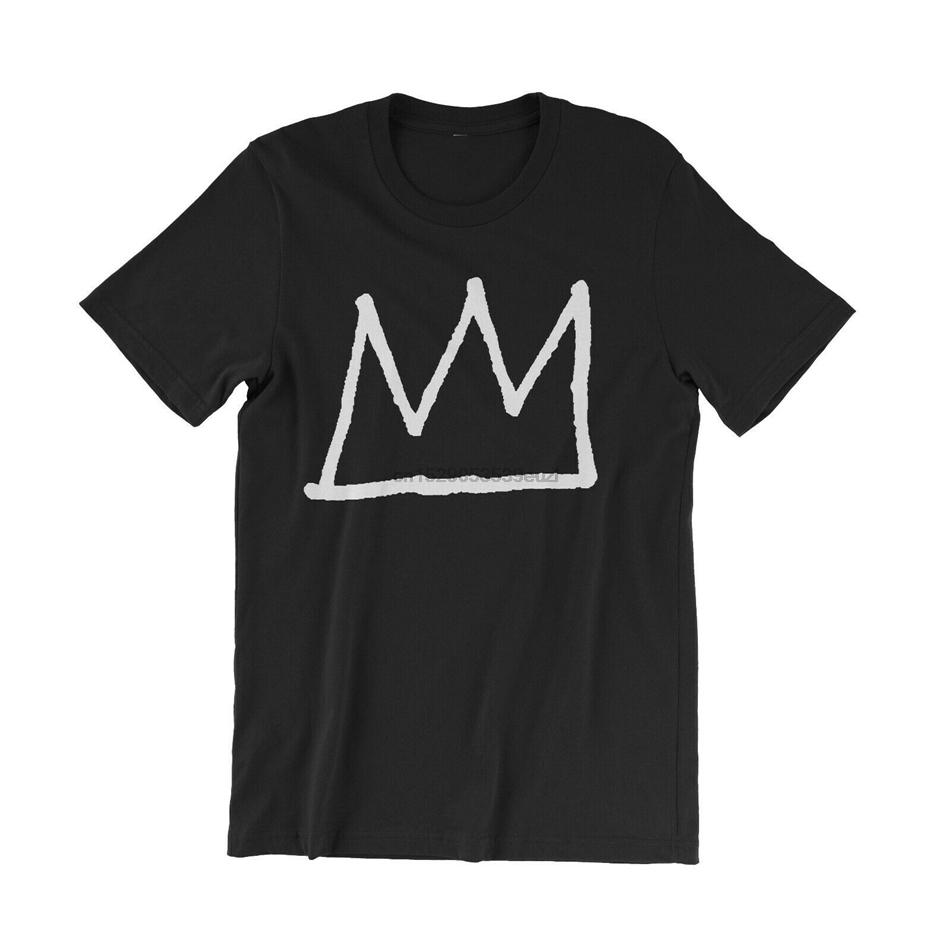 Jean Michel Basquiat Crown T-Shirt - New York City 80S-Kunst-T-Shirt - Legend Retro-T-Shirt