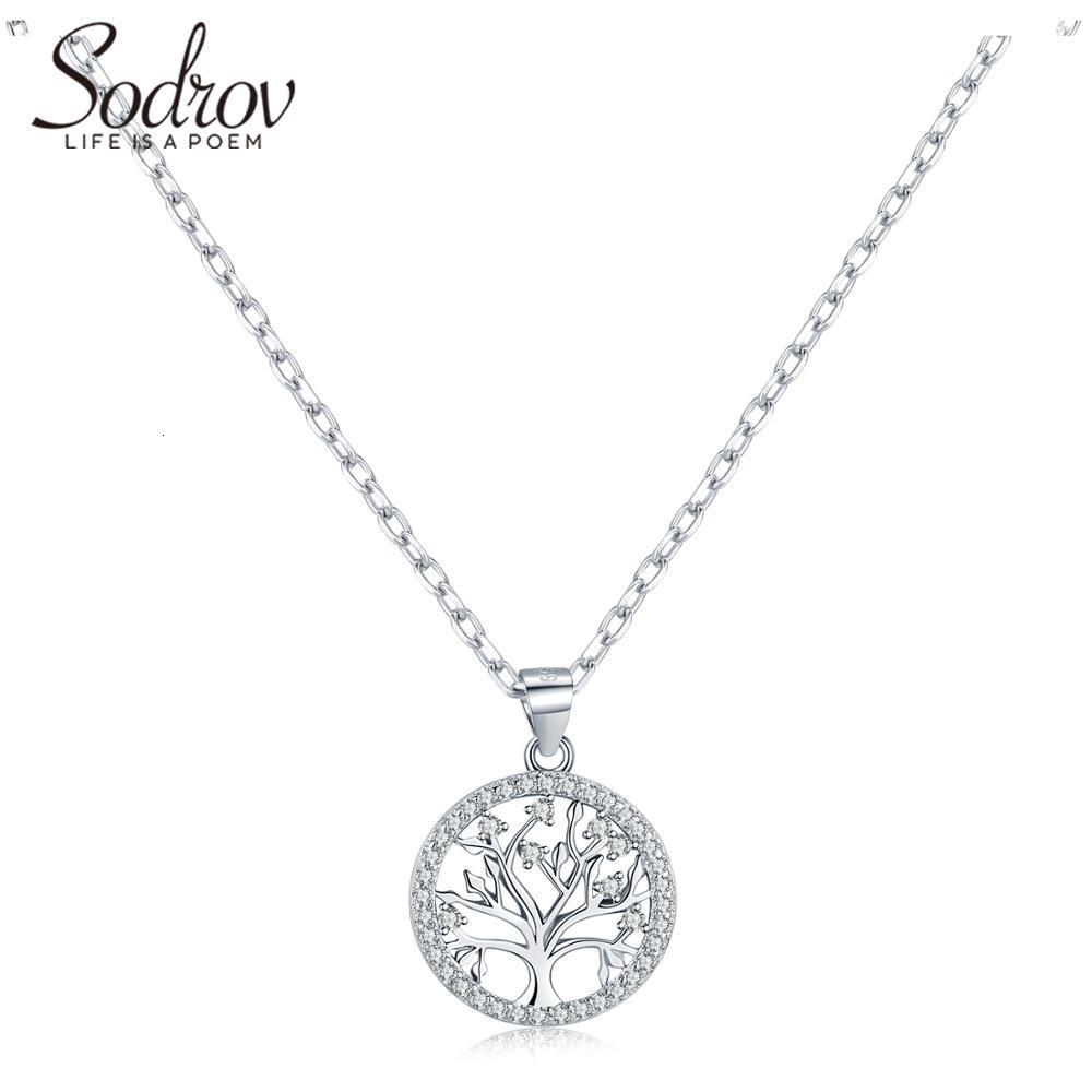Sodrov autentico Argento 925 Diy Vita collana dell'albero signore Natura monili fortunati di collegamento del pendente fascino