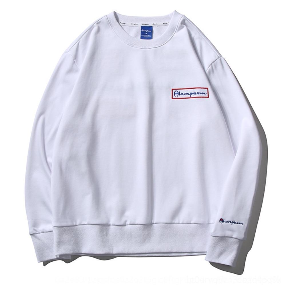 ho5MW CYiF5 Champion lettre coréenne pull-over en coton brodé décontracté pull lâche beau chandail à manches longues hommes pulloversweater mode »
