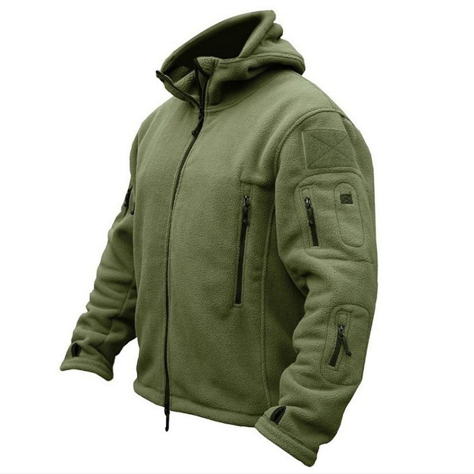 Homens do Exército dos EUA Inverno térmica Jaqueta de lã Tactical Brasão Militar Softshell caminhadas ao ar livre Casacos militares Ao ar livre Esportes com capuz