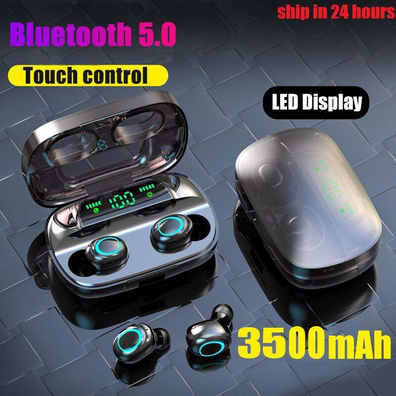 S11 3500mAh LED Bluetooth Casque sans fil Touch Control Sport Casque Annuler bruit écouteurs HiFi